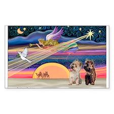 XmasStar/2 Cairn Terriers Rectangle Decal