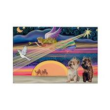 XmasStar/2 Cairn Terriers Rectangle Magnet