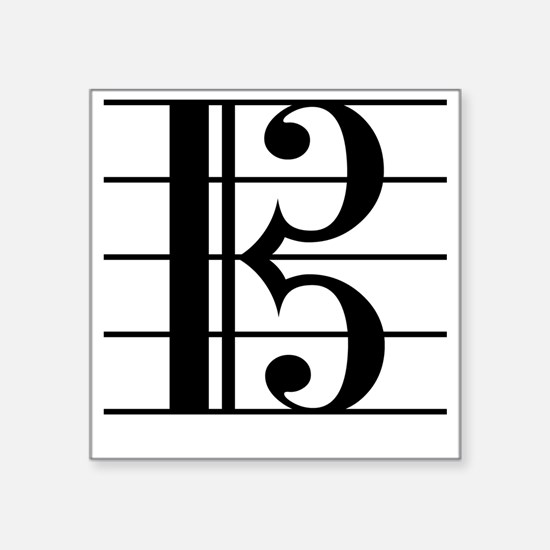 """Cute Viola Square Sticker 3"""" x 3"""""""