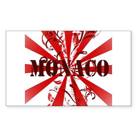Monaco Vintage Rectangle Sticker