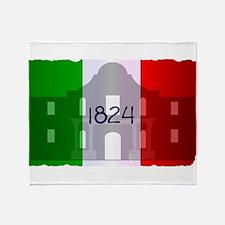 The Flag of Alamo Throw Blanket