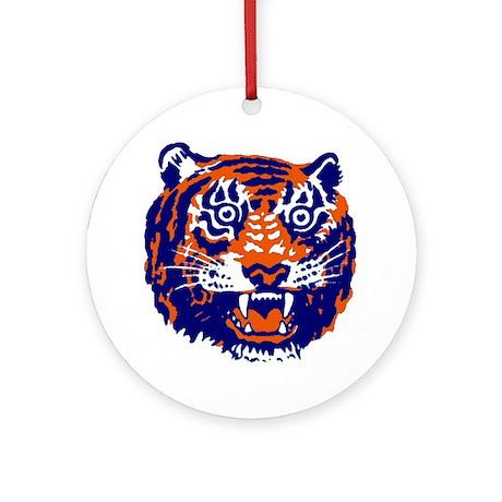 Tiger Head Ornament (Round)