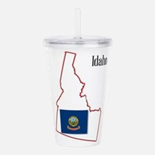 Idaho State Map and Fl Acrylic Double-wall Tumbler