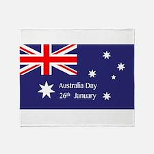 Australia Day Throw Blanket