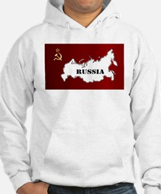 Russian Flag and Map Hoodie