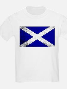 Scotish Flag Grunge T-Shirt