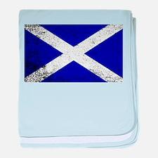 Scotish Flag Grunge baby blanket