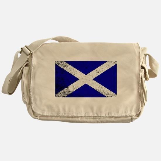 Scotish Flag Grunge Messenger Bag