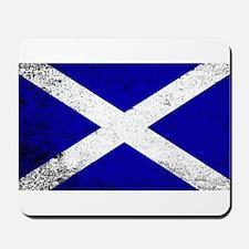 Scotish Flag Grunge Mousepad