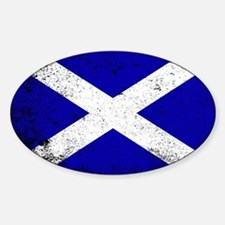 Scotish Flag Grunge Decal