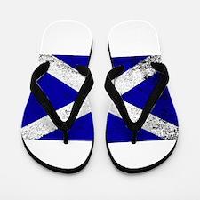 Scotish Flag Grunge Flip Flops