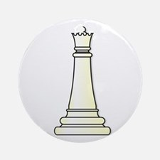 White Queen Round Ornament