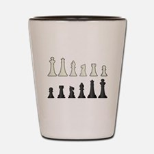 Chess Pieces Shot Glass