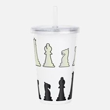 Chess Pieces Acrylic Double-wall Tumbler