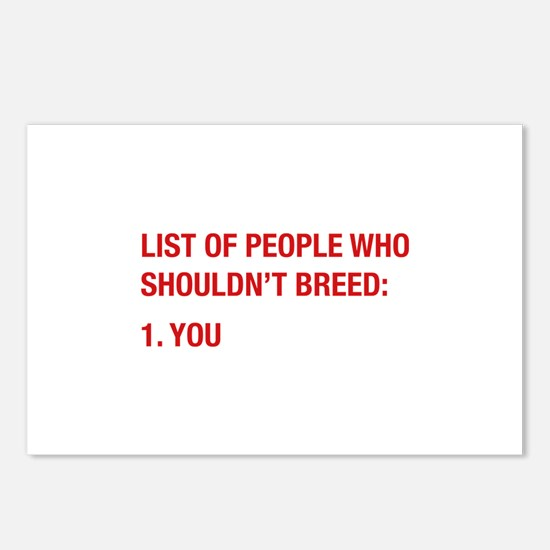 List Of People Postcards (Package of 8)
