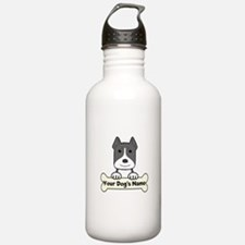 Personalized Pit Bull Water Bottle
