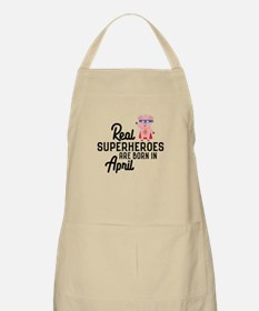 Superheroes are born in April Cr4r2 Light Apron
