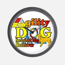 Duck Toller Agility Wall Clock