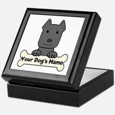 Personalized Pit Bull Keepsake Box