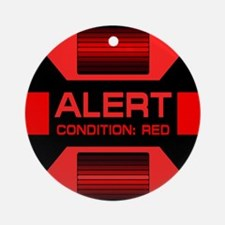 Red Alert Ornament (Round)