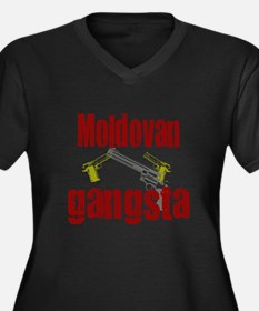 Moldovan gangsta Women's Plus Size V-Neck Dark T-S