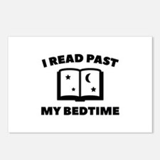 I Read Past My Bedtime Postcards (Package of 8)