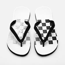 Chequered Flag Grunge Flip Flops