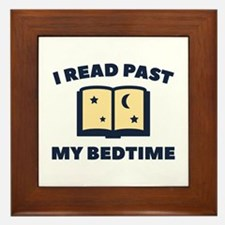 I Read Past My Bedtime Framed Tile