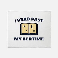 I Read Past My Bedtime Stadium Blanket