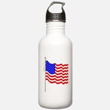 Flag and Tags Water Bottle
