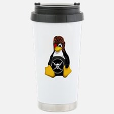 Tux The Pirate Travel Mug