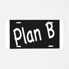 Plan B Aluminum License Plate