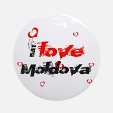 I love Moldova Ornament (Round)