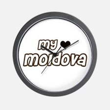 my heart Moldova Wall Clock
