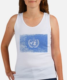 United Nations Flag Grunge Tank Top
