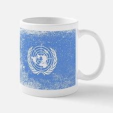 United Nations Flag Grunge Mugs