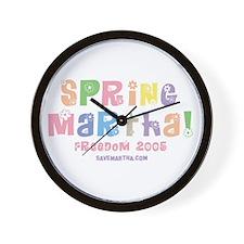 Spring Martha Wall Clock