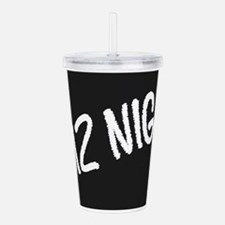Quiz Night Blackboard Acrylic Double-wall Tumbler