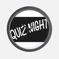 Quiz Night Blackboard Wall Clock