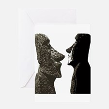 Easter Island Heads Greeting Cards