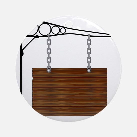 Rectangle Hanging Sign Round Ornament