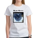Blue Kitty Cat Women's T-Shirt
