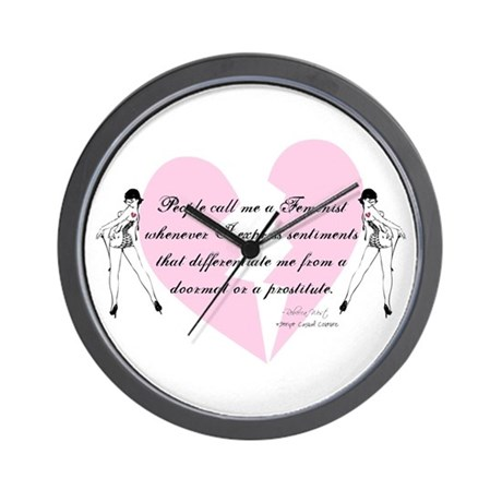 Feminist Quote T-shirts and g Wall Clock