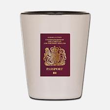 British Passport Shot Glass