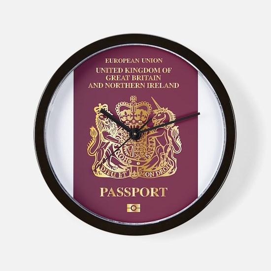 British Passport Wall Clock