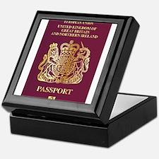 British Passport Keepsake Box
