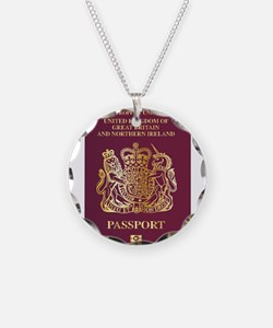 British Passport Necklace