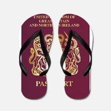 British Passport Flip Flops