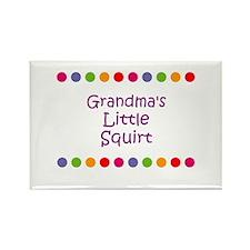 Grandma's Little Squirt Rectangle Magnet