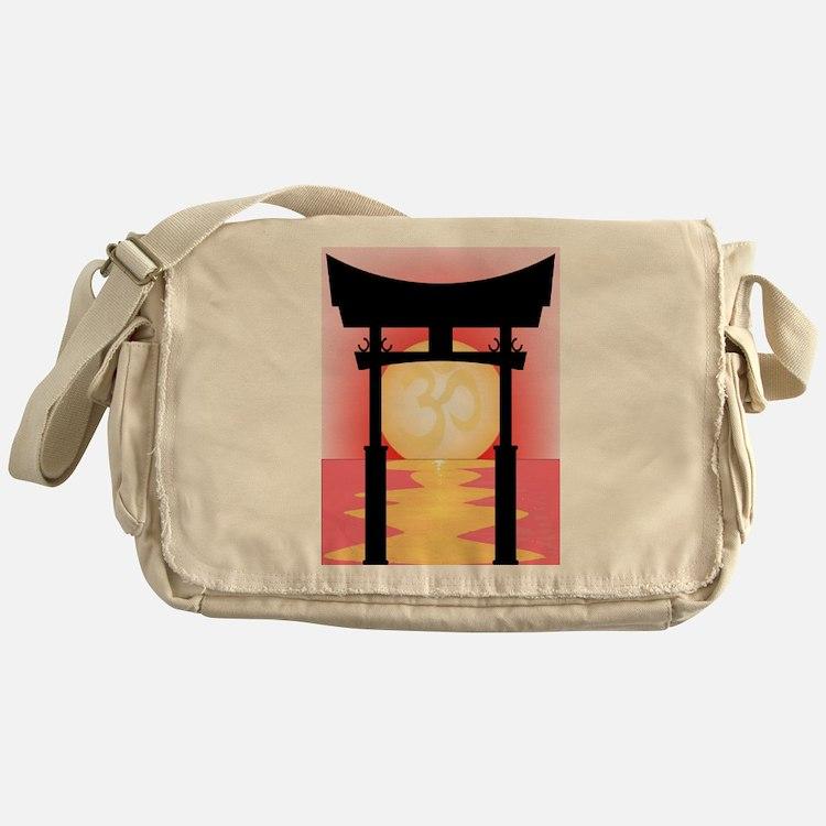 Japanese Tori Gate Sunset Messenger Bag